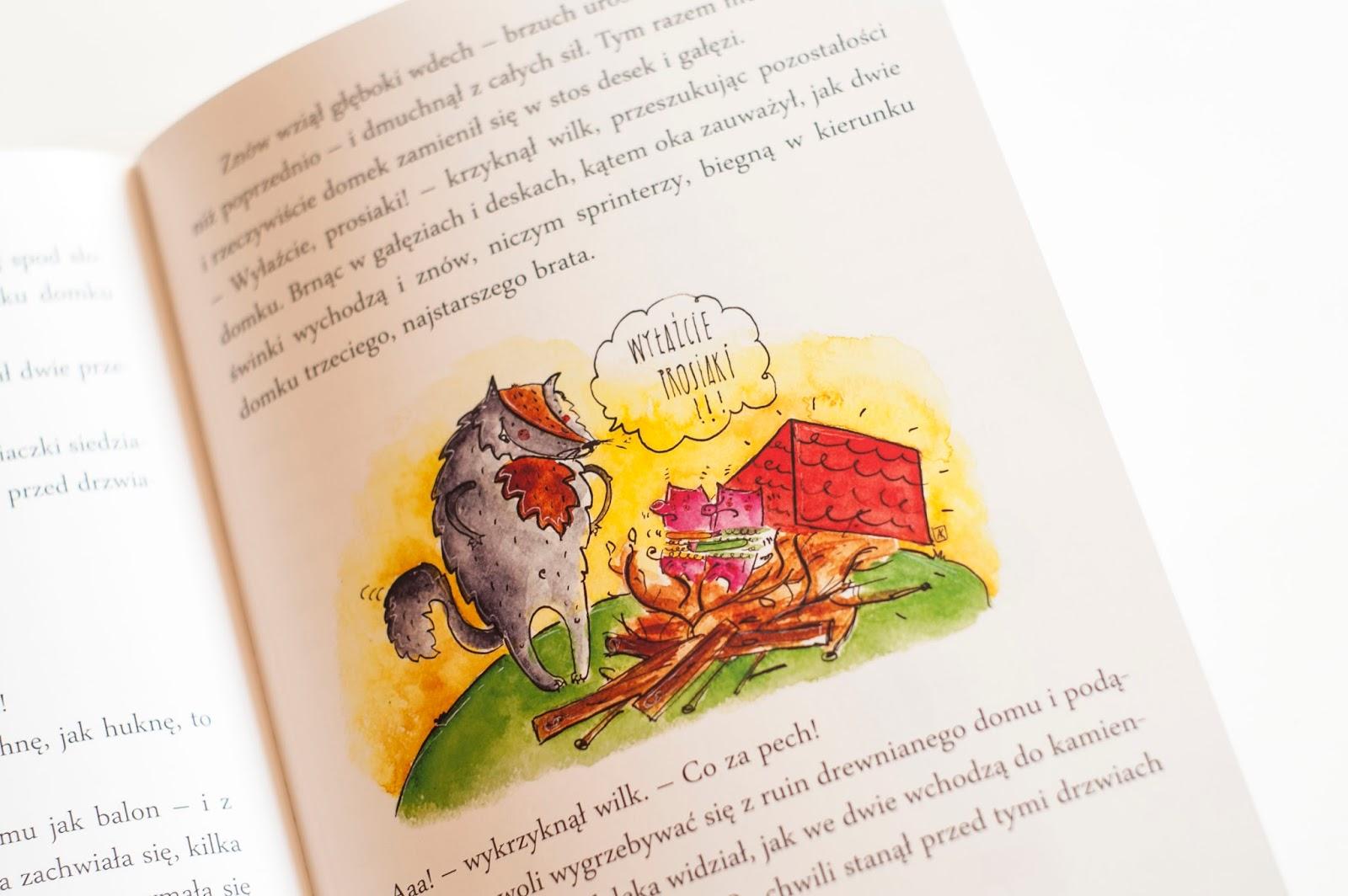 ilustracje dla dzieci: Prawdziwa historia wilka z lasu.