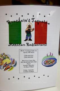 Ranchero's Taqueria's Menu Page 1
