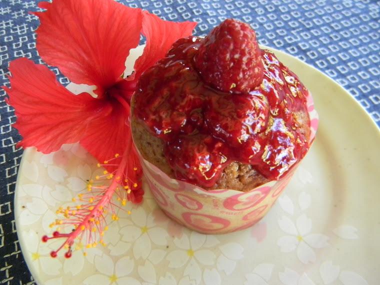 Cupcake Framboise mangue MIAM!!
