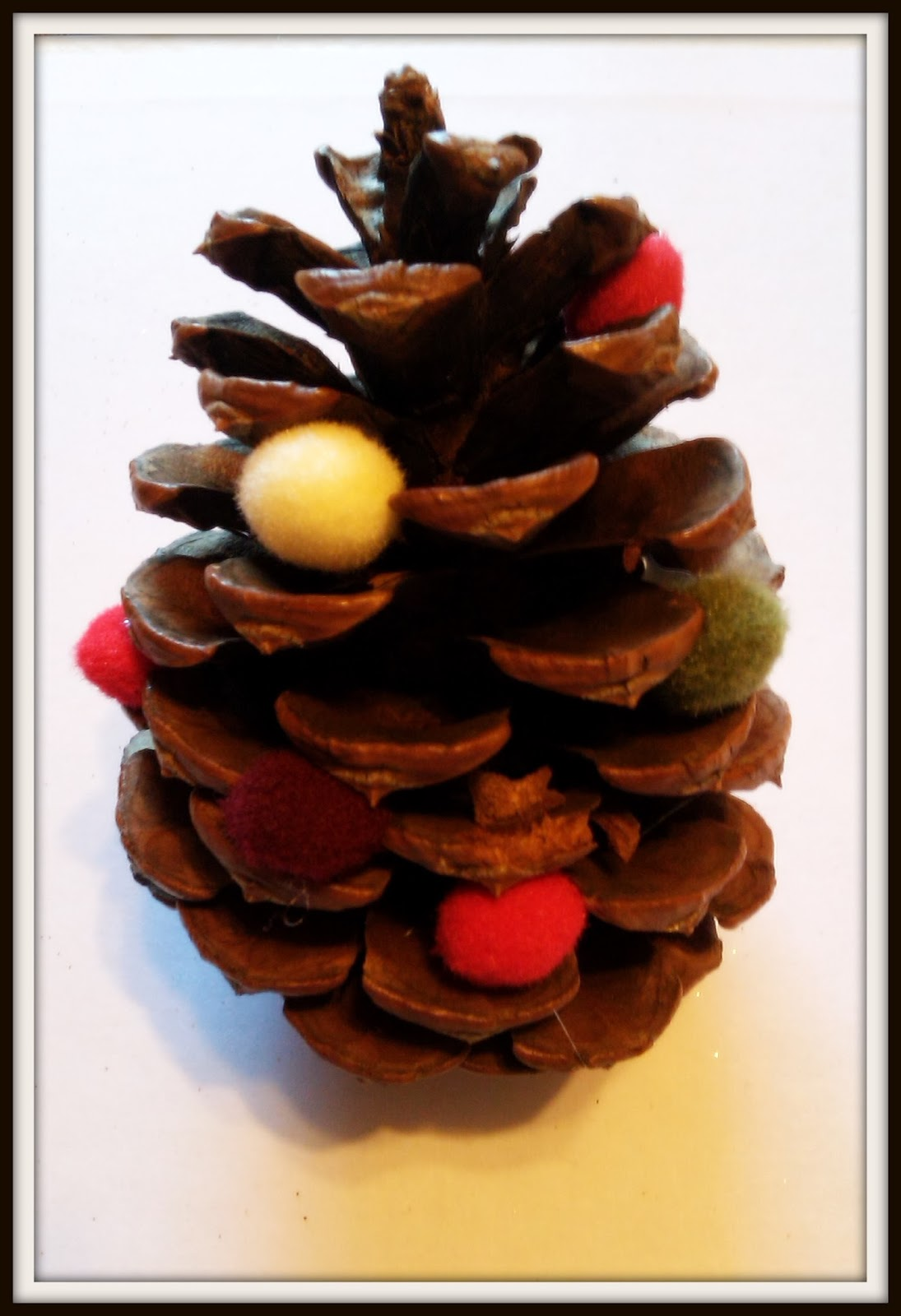 double treble craft adventures pine cone ornament craft. Black Bedroom Furniture Sets. Home Design Ideas