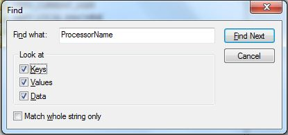 How to Change Processor Name