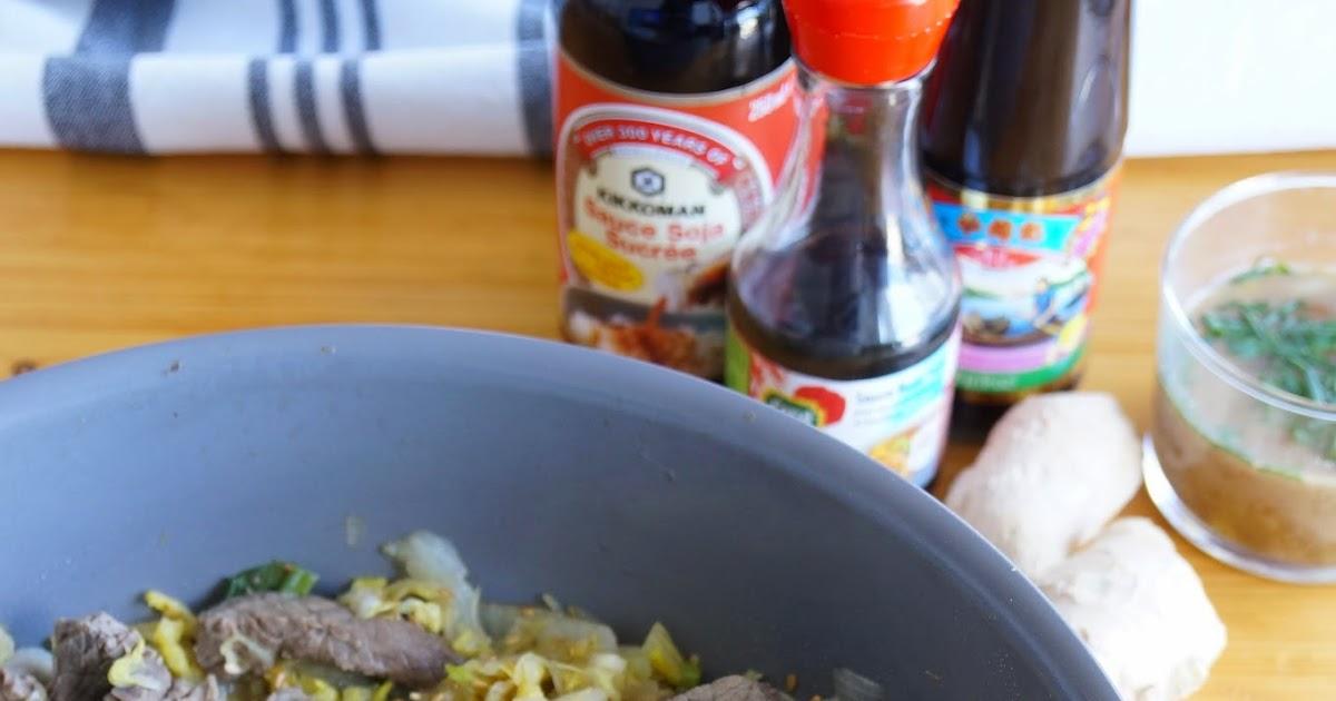 The cook time wok de chou chinois et boeuf marin - Cuisiner du chou chinois ...