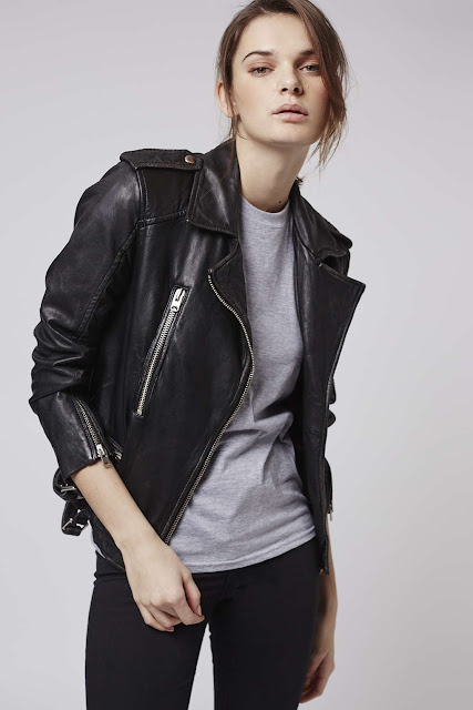 topshop leather biker jacket,