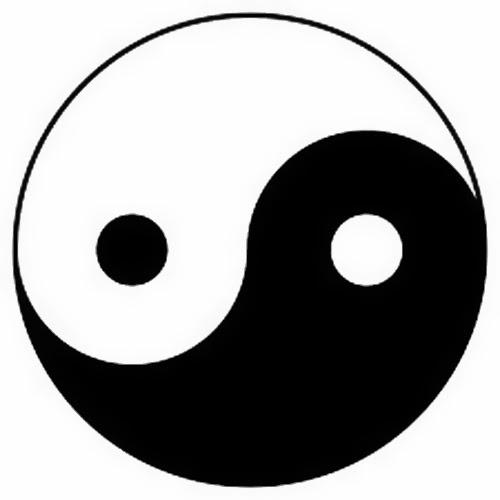 Yin Yang classic tattoo stencil