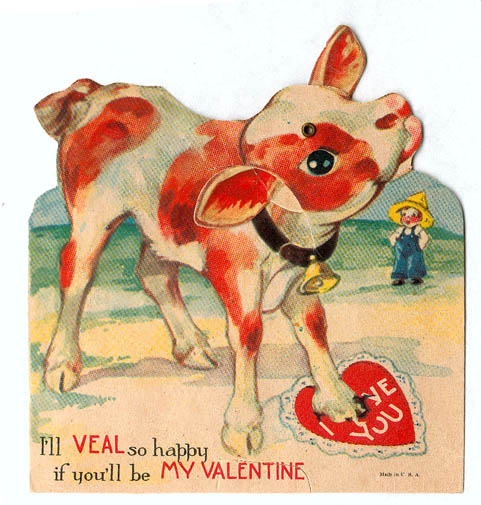 Six Extremely Creepy Vintage Valentineu0027s Day Cards.