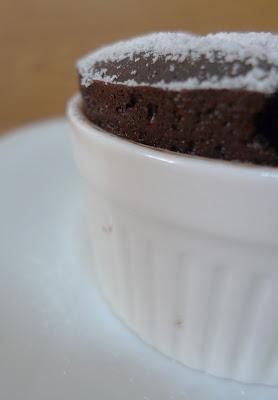 Chocolate Raspberry Souffles
