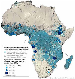 Régions d'Afrique où l'hydroélectricité est l'énergie la moins chère