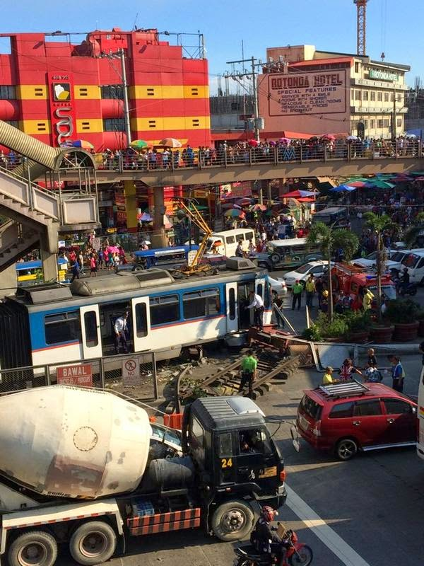 MRT train hits barrier at Taft Avenue Station, 8 injured