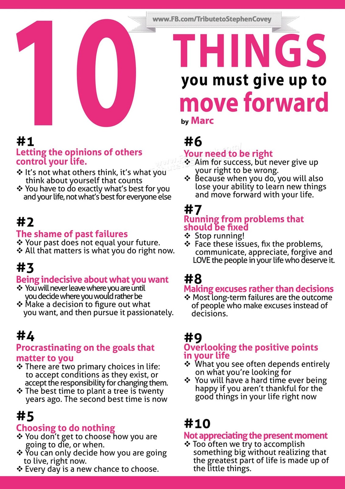 10 Things You Must Give Up To Move Forward Quotes And Stories