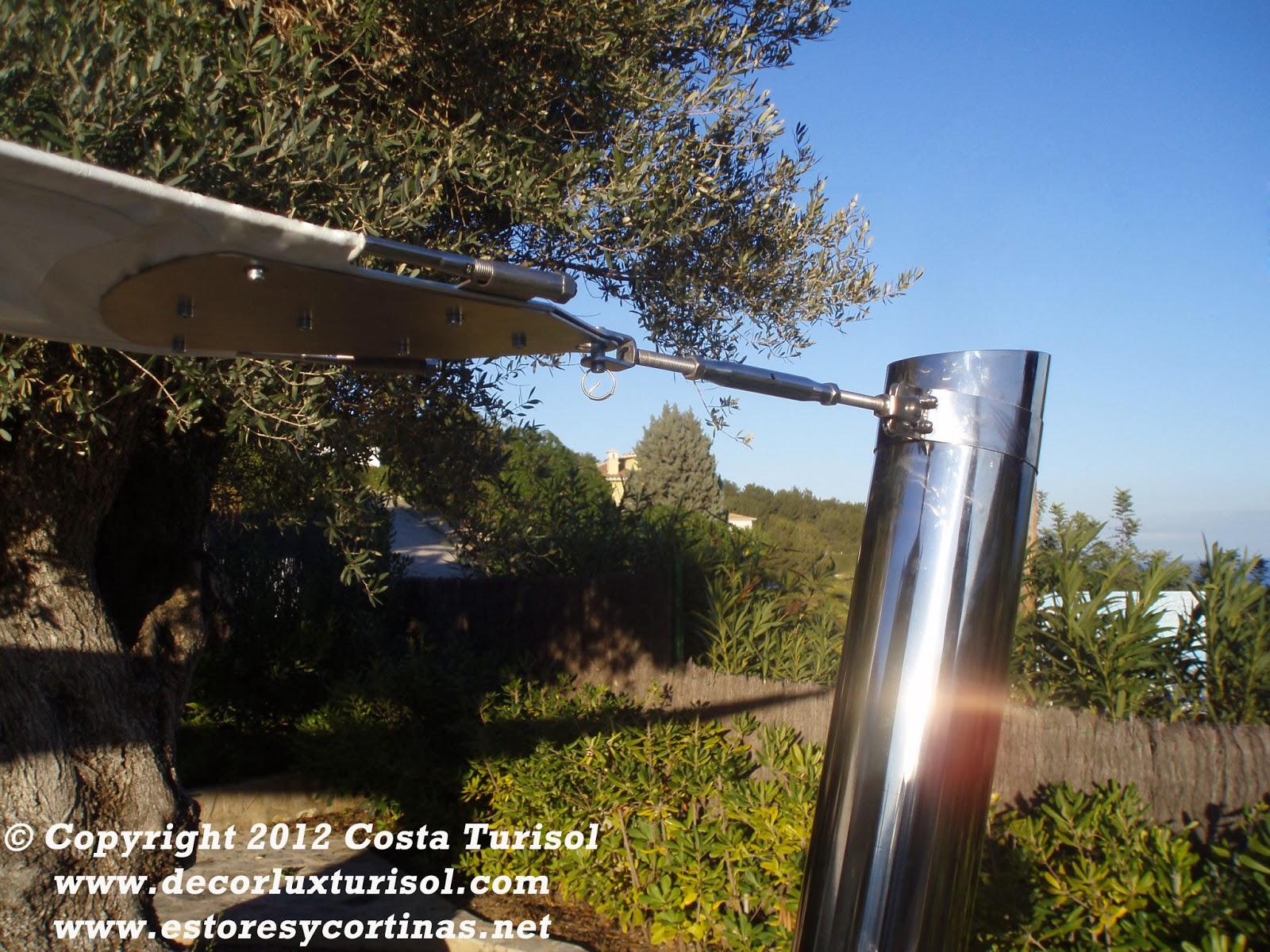 Decoracion interior cortinas verticales estores for Barras de aluminio para toldos