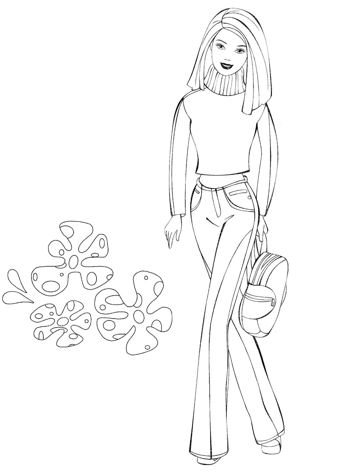 Modern Barbie Coloring Pages Best Ideas For Printable And Coloring