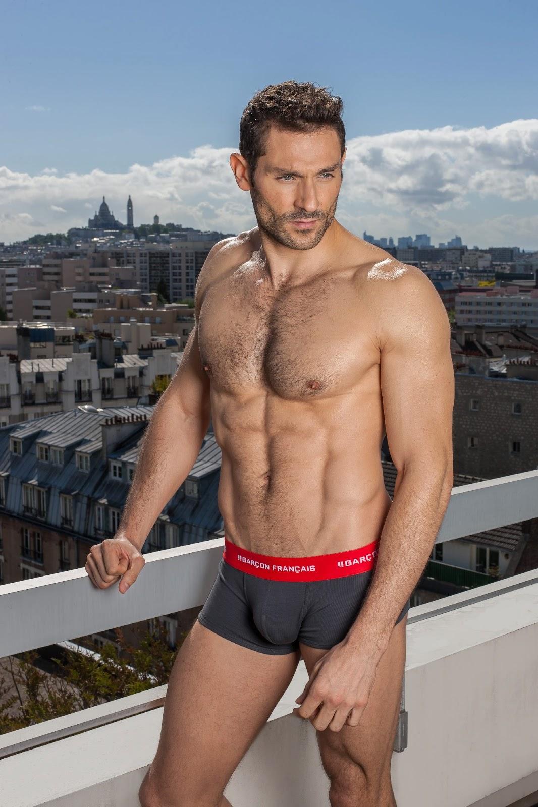 Garcon Francais underwear - charcoal grey trunks