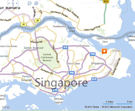 Detail Downtown East Singapore Location Map for Tourists Alexandra