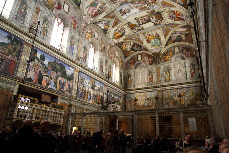 Sistine Chapel in all of its glory.
