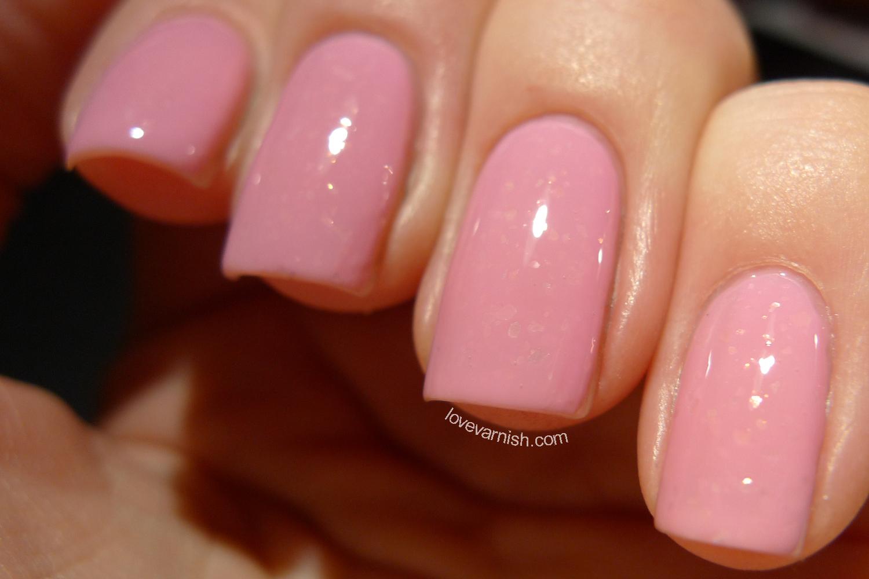 Dance Legend Mist Way Minerva pink bubblegum flakie nail polish