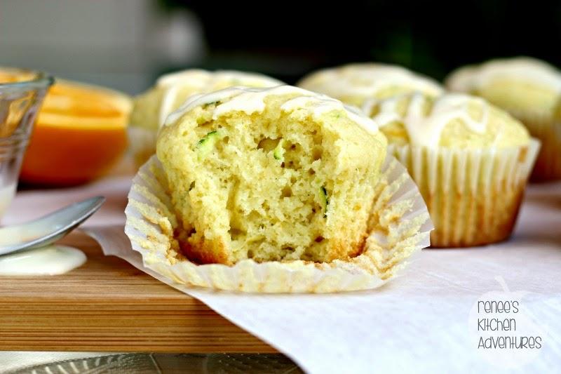 Glazed Orange Zucchini Muffins #zucchini #muffins