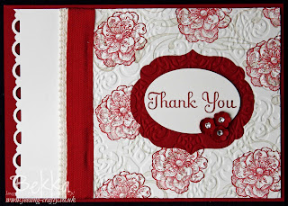 Lovely Thank You Card by Bekka featuring the Everything Eleanor Stamp Set from Stampin' Up!  visit www.feeling-crafty.co.uk for all your Stampin' Up! needs
