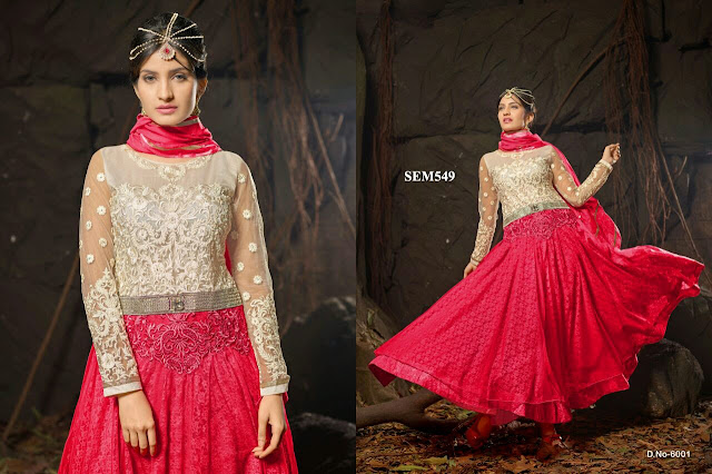 New Arrival Russell Net Long Anarkali Suit – Exporter