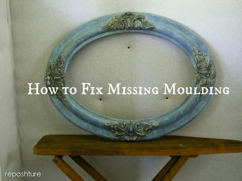April 1, 2013 - Reposhture Studio: How To Fix Missing Moulding