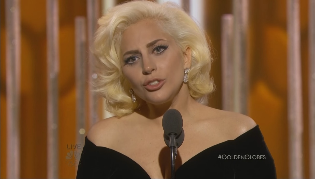 look da lady gaga no globo de ouro