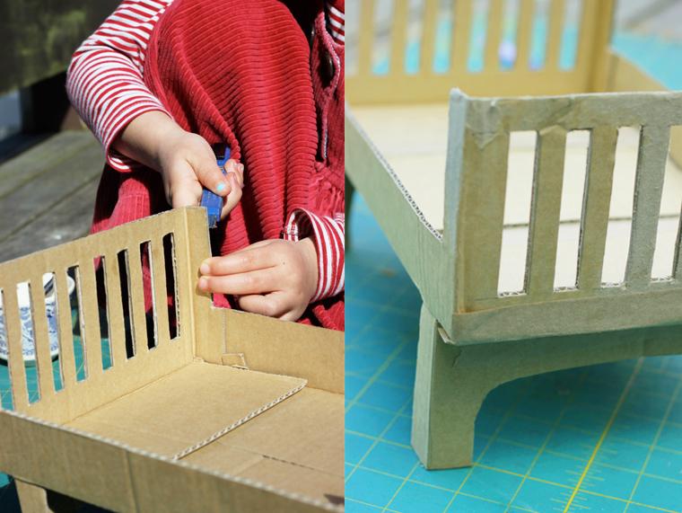 Как сделать кукле кровать из коробки своими руками