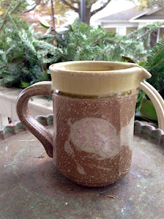 Salt Fired Ceramic Pitcher by Lori Buff