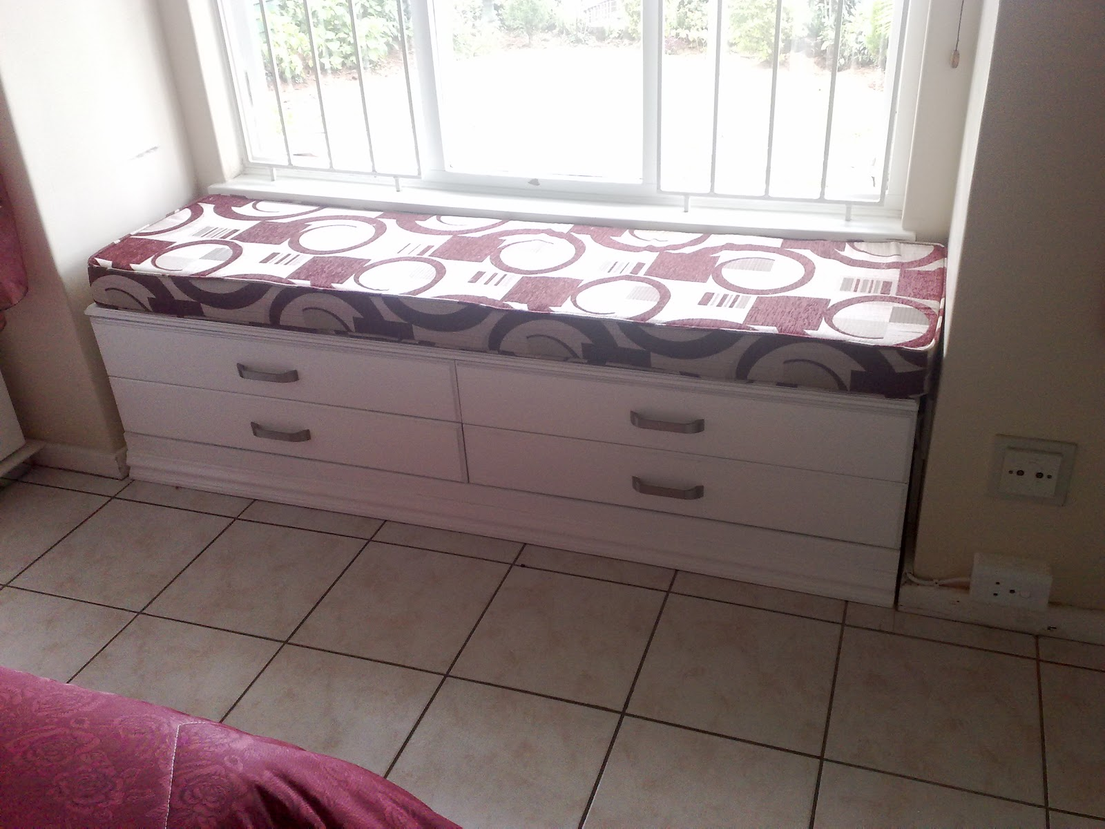 Custom Carpentry Window Seat With Storage