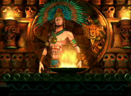 Montezuma, leader of the Aztecs, from the PC video game Civilization 5