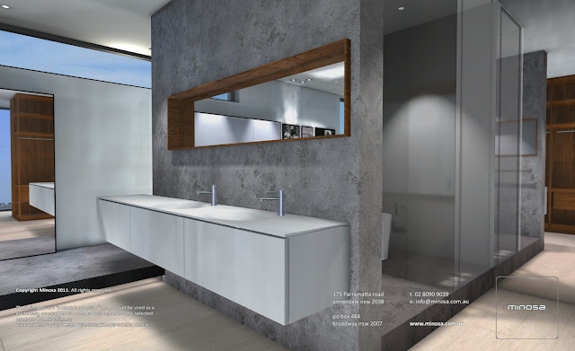 Minosa bathroom washbasins Open master bathroom designs