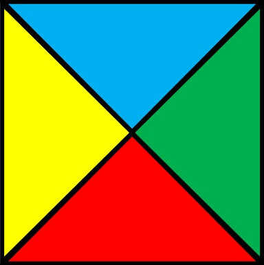How To Divide Square on Shapes Divided Into Halves