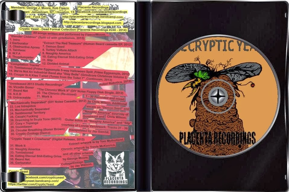 Cryptic yeast dead format collection placenta recordings 246 2014