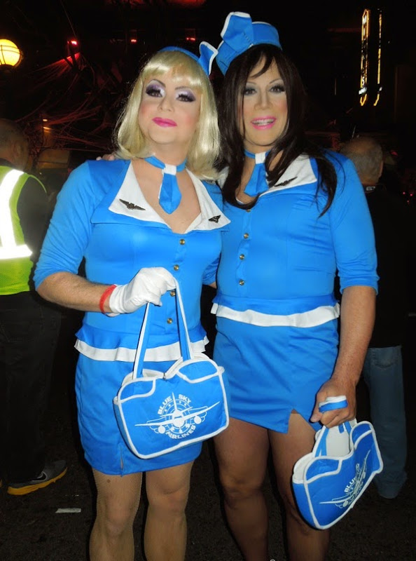 West Hollywood Halloween Pan Am costumes 2012