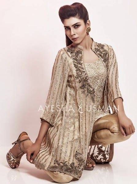 Ayesha and Usman Qamar Eid Luxe Dress Fashion-14