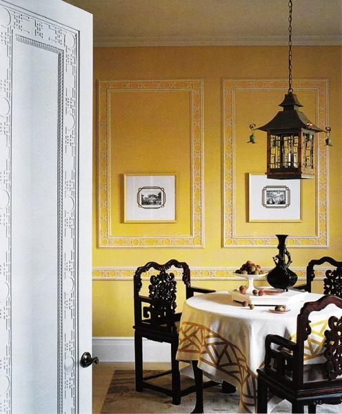 sybaritic spaces: yellow dining rooms