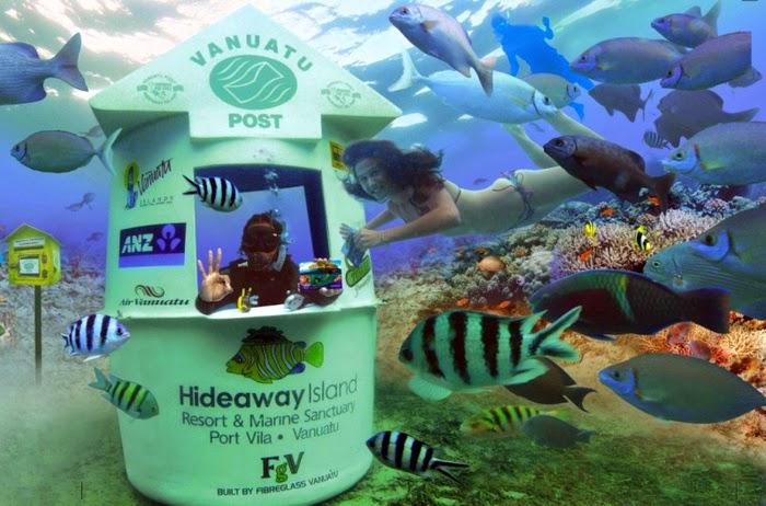 underwater post office - Vanuatu