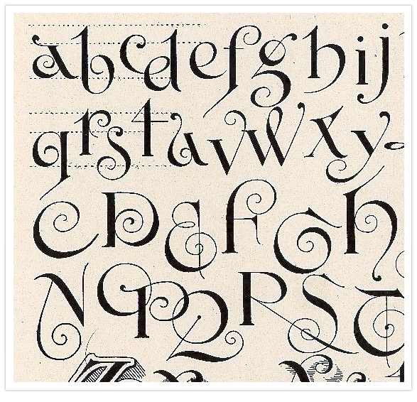 Calligraphy alphabet styles cake ideas and designs