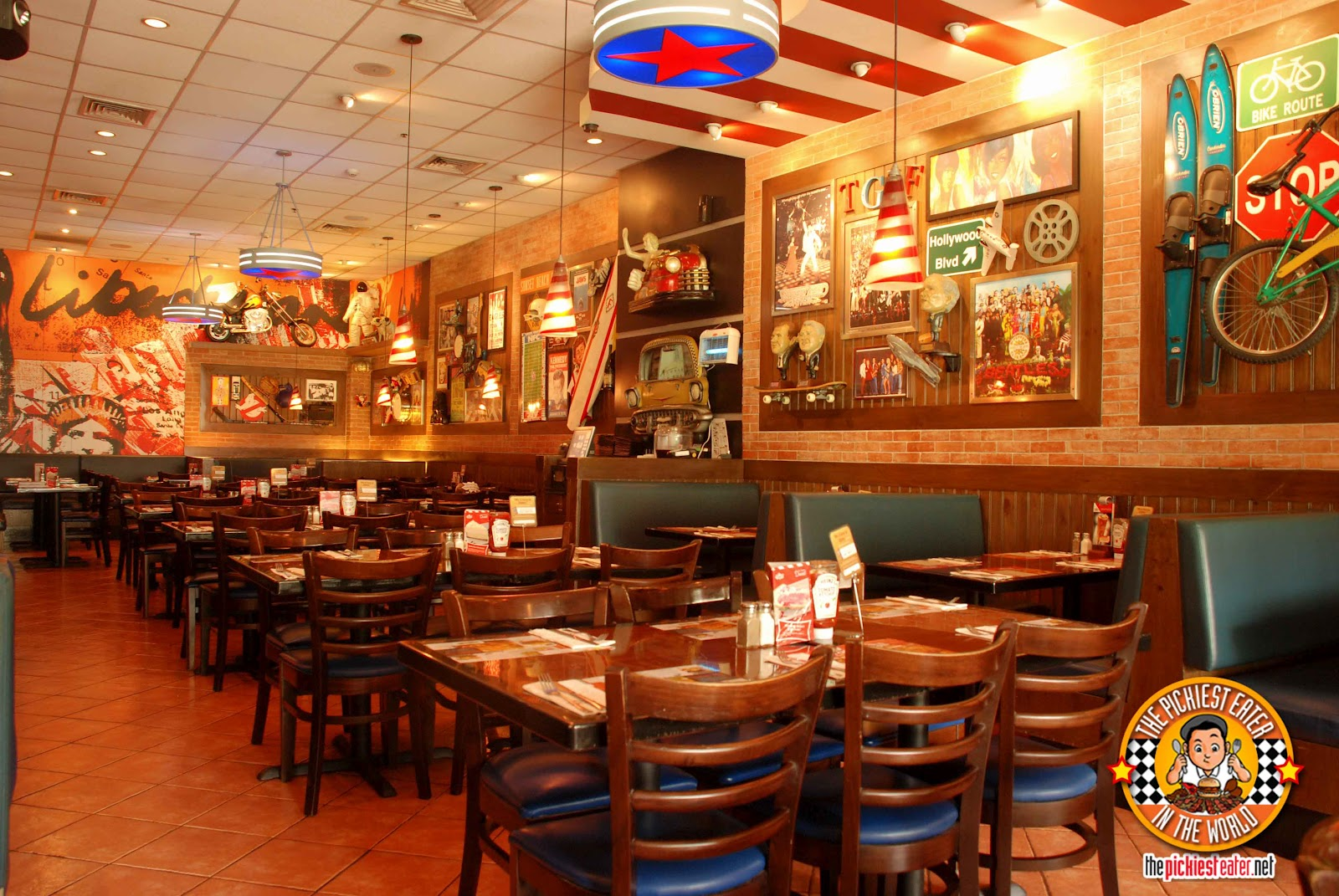 TGIFridays Looks Sort Of Like A British Pub But With The Energy Much More Electric From Zany Costumes Their Servers Which Often Includes