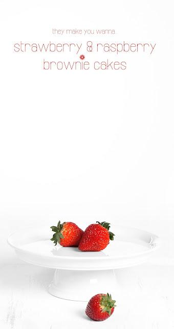 raspberry brownie cakes