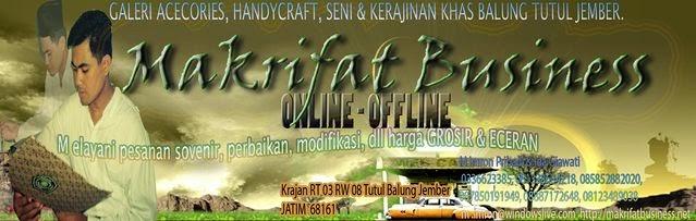 KAOKAH - KOKKA Handicraft Kerajinan Khas MAKRIFAT BUSINESS Desa TUTUL Jember Indonesia
