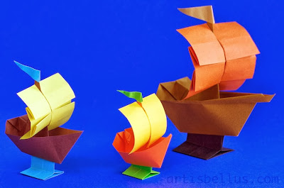 Origami Decorations: Toy Boats