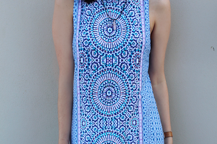printed dresses, moroccan printed dresses, folk print dress, tile print dress, boho dresses, australian bloggers, australian fashion bloggers, like a harte, likeaharte, sportsgirl bloggers, ivana, ivana petrovic, asos sandals, new look sandals, pole tan sandals, summer outfit ideas, fun work outfits,