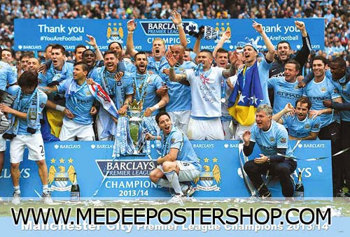 MANCHESTER CITY CHAMPION PREMIERE LEAGUE 2013/2014