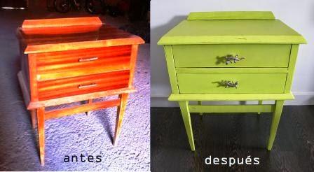Antes y después muebles de madera lacados Decoesfera - fotos muebles restaurados antes despues