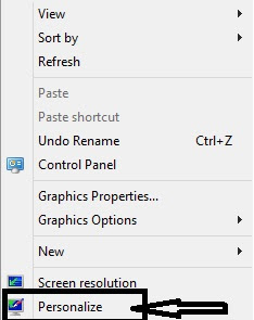 Context menu in windows 8