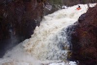 Minnesota whitewater slide kayak, WhereIsBaer.com Chris Baer