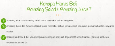 Kenapa Harus Beli Amazing Salad & Amazing Juice ?