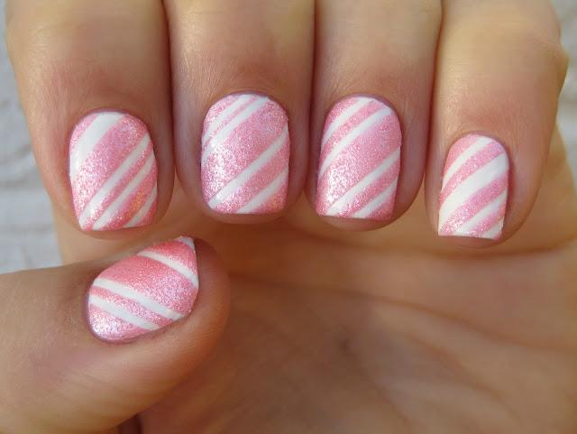 candy cane nail art
