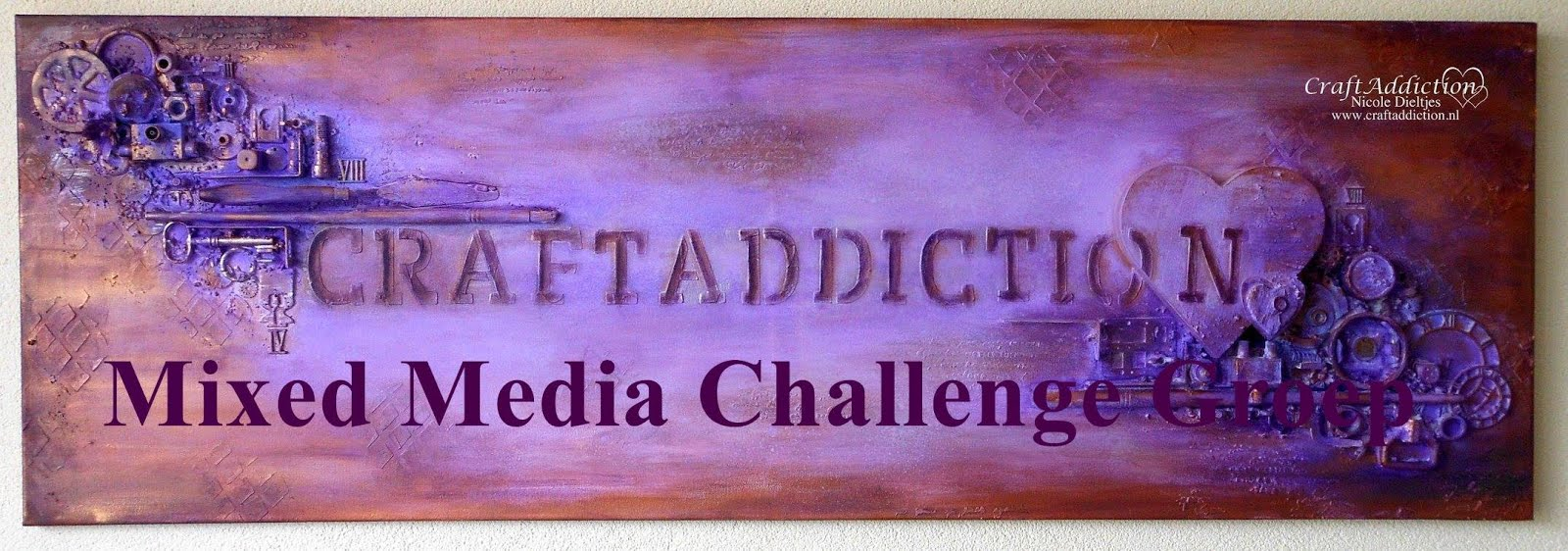 CraftAddiction Mixed Media Challenge groep op Facebook