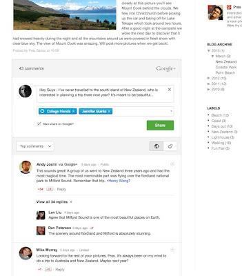 قوقل تطلق نظام تعليقات لقوقل بلس لخدمة التدوين بلوجر