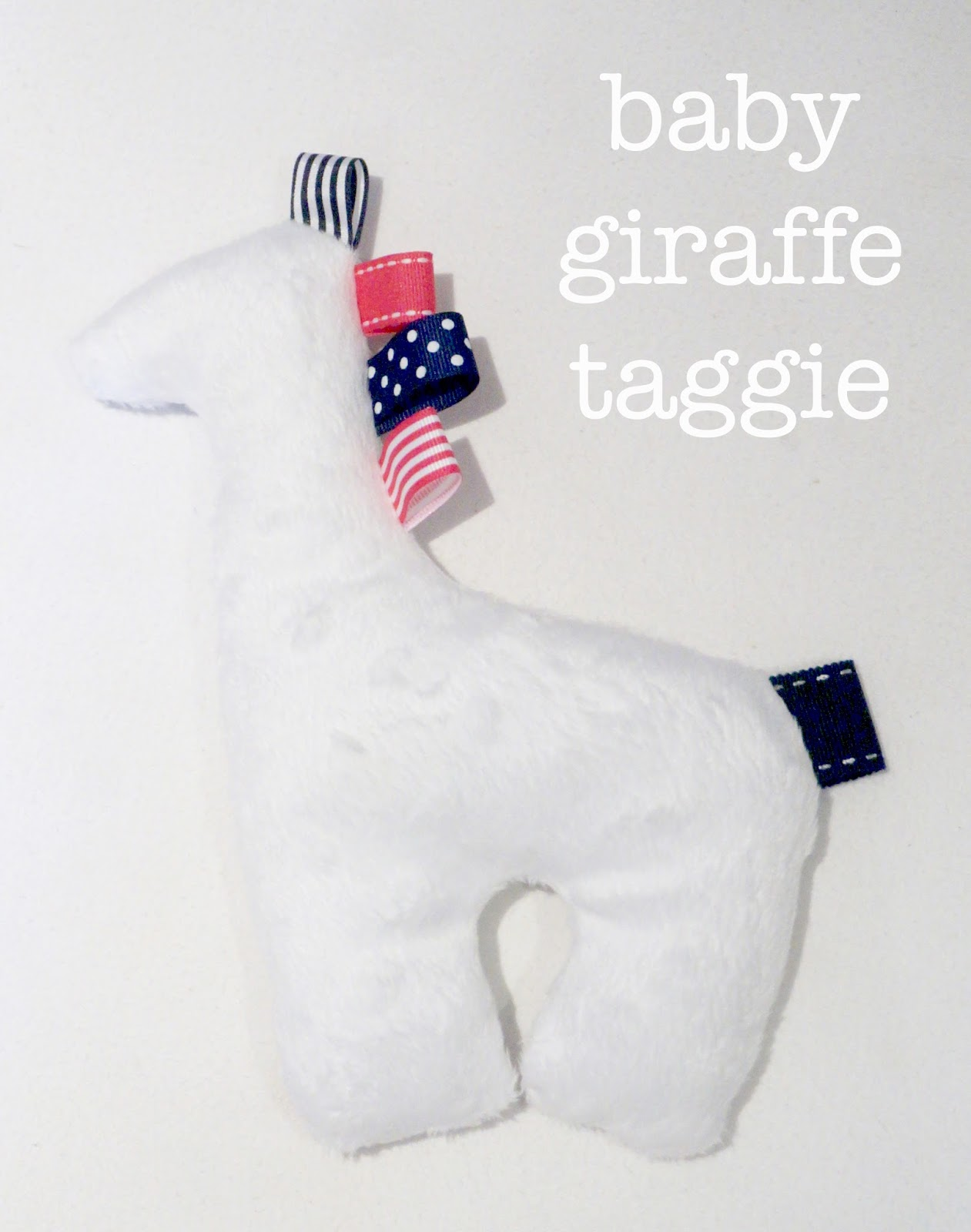 meg-made baby taggie giraffe